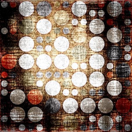 Seamless polka dots grunge background for design photo