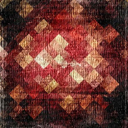 diamong: Vintage grunge background made from mosaic Stock Photo