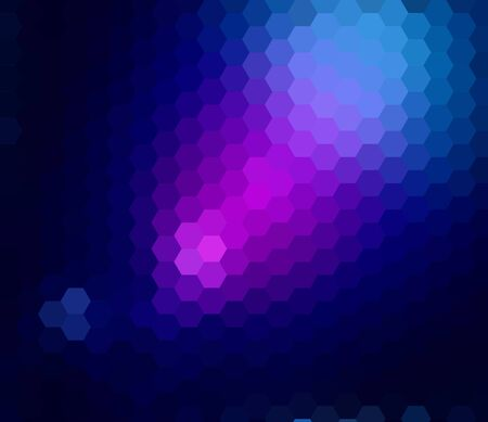 Abstract ray light background made from hexagonal photo