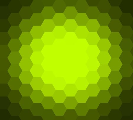 Abstract ray light lime background made from hexagonal photo