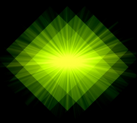 diamong: Abstract ray light lime background made from mosaic Stock Photo