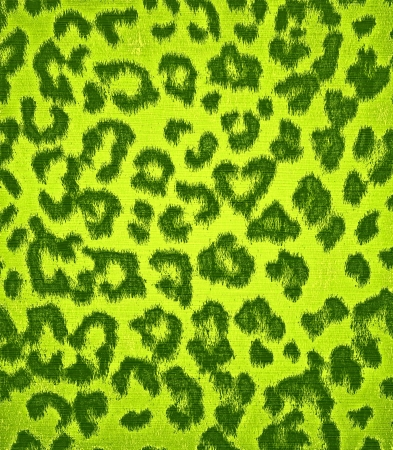 Lime Green Leopard Print Fur photo