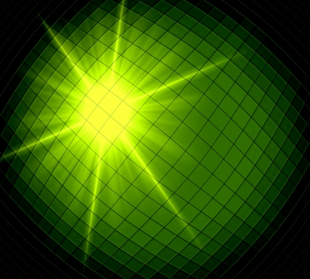 diamong: Abstract ray light green background made from mosaic Stock Photo