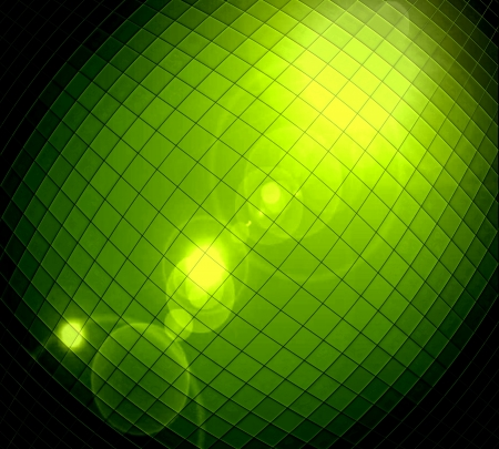 Abstract ray light green background made from mosaic photo