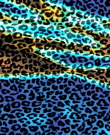 human skin texture: Retro Leopard Print Skin Fur