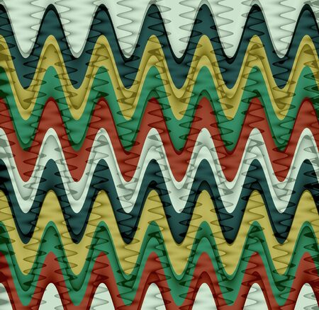 Colorful Wavy Stripes Pattern Background Stock Photo - 15521024