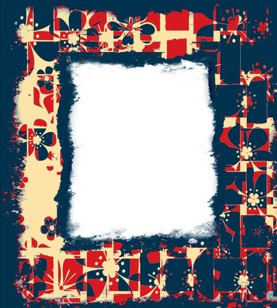 Vintage grunge floral frame  photo