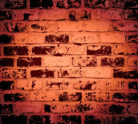 Dark Red brick wall texture, grunge background photo