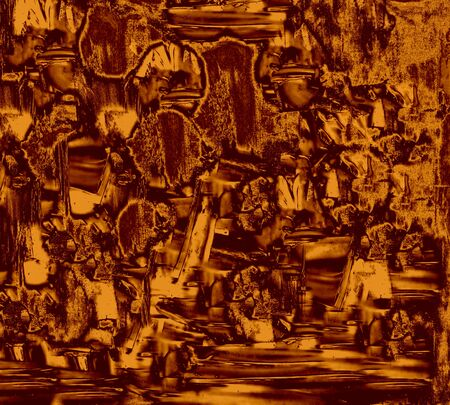 Brown Gold Abstract Painting photo