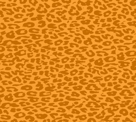 Vintage yellow orange brown Leopard Print Fur photo