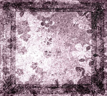 Abstract Floral Grunge Texture Background in Frame photo