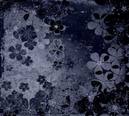 藝術垃圾花的復古背景紋理 版權商用圖片