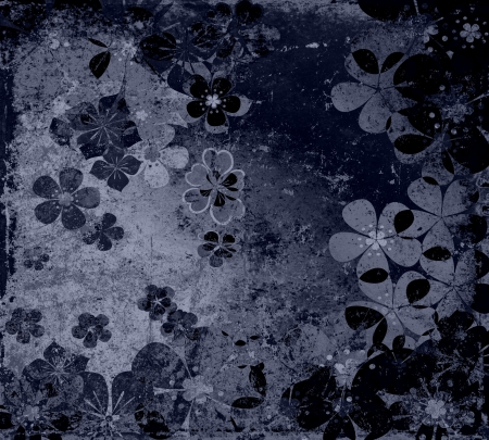 mixed wallpaper: art grunge floral vintage background texture  Stock Photo