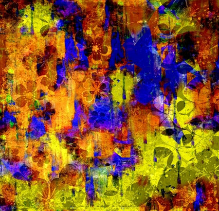Mixed technics, Expression Abstract painting  photo