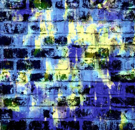Painted grunge background on brick wall Stock Photo - 15742465