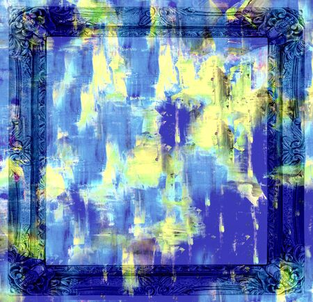 Abstract art backgrounds  Hand-painted background with Frame photo