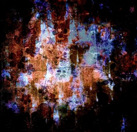 abstract painting - mixed media grunge  photo