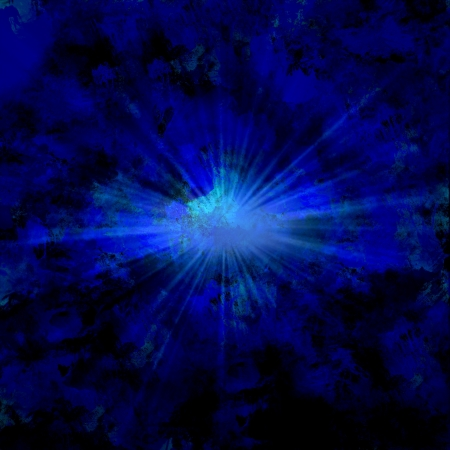 Art Blue Abstract Painting with ray light photo