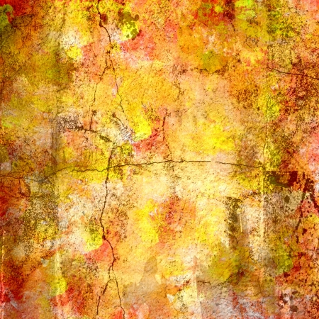 Colorful Abstract Painting Texture Cracked Background Фото со стока