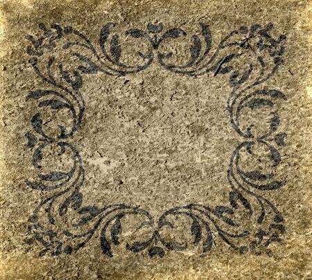 Vintage Antique Grunge Monogram Textured Background Stock Photo - 15742490