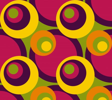 Abstract seamless background with colorful circles photo