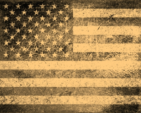 Old American flag vintage textured background photo