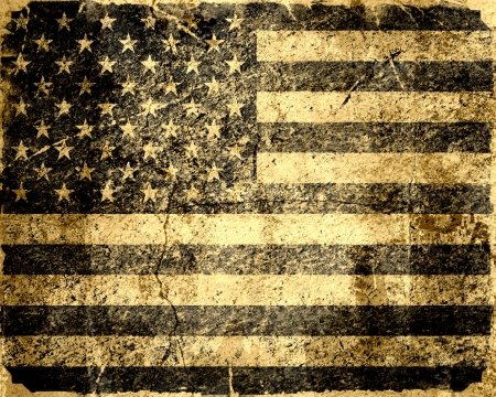military history: American flag vintage textured background Stock Photo