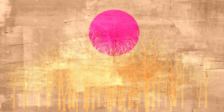 Sunset abstract painting photo