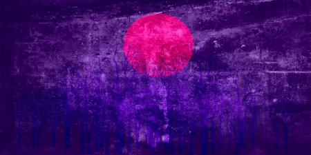 Violet sunset abstract painting photo