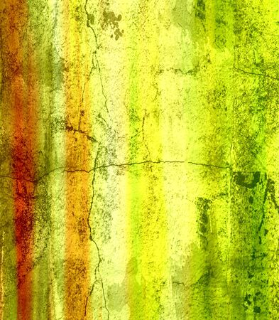 Grunge color texture, green and red color, old scratched surface  photo