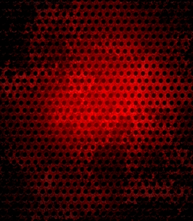 Dark red grunge metal mesh background  photo