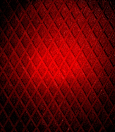 Dark red grunge diamond metal plate photo