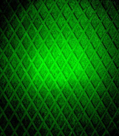 Green grunge diamond metal plate photo
