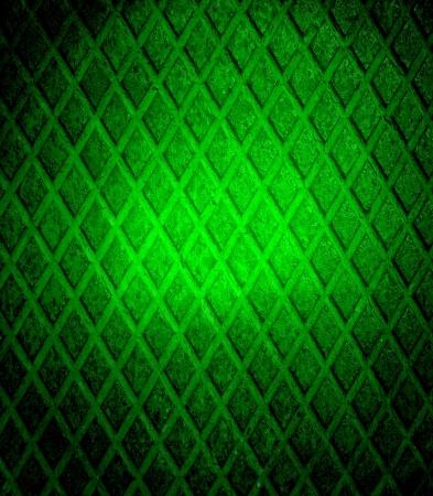 Green grunge diamond metal plate Stock Photo - 15851435