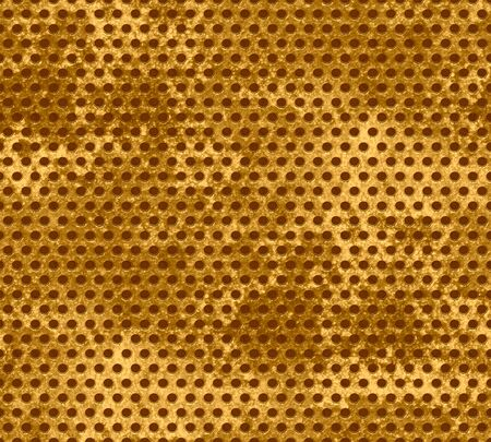 Grunge gold metal mesh background  photo