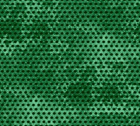 Green Grunge metal mesh background  photo