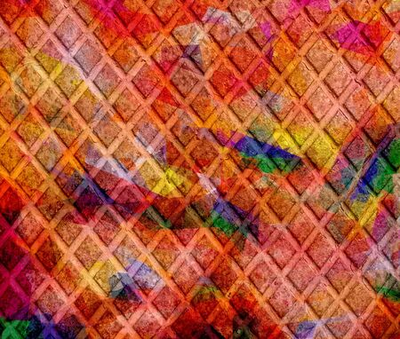 Geometric grunge background in retro colors Stock Photo - 15872887