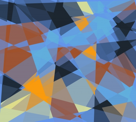 arty: Retro colorful cubism art textured background Stock Photo