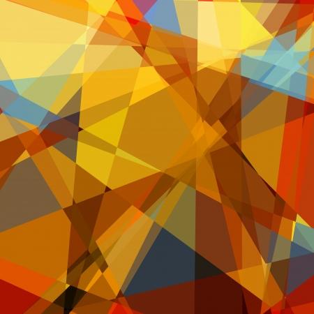 painterly: Retro colorful cubism art background Stock Photo