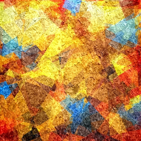 Retro colorful cubism art grunge background Stock Photo - 15872864