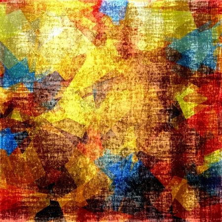 cubismo: Retro colorido arte cubismo grunge fondo Foto de archivo