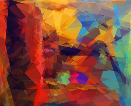 Retro colorful cubism abstract art background photo