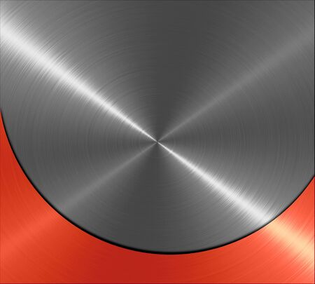 Metallic red and gray metal texture background photo