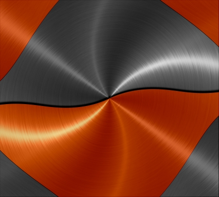 anodized: 3d orange and gray metal texture background