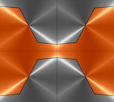 specular: 3d orange and gray metal texture background