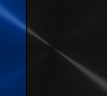 brushed aluminium: Blue and black metal texture background