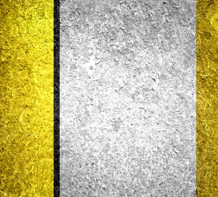 Yellow and gray metal texture background photo