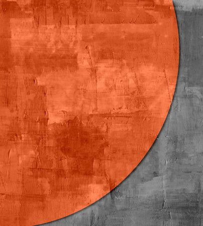 expressive style: Black and Orange Abstract art texture background