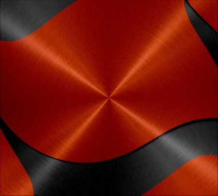 Black and red shiny metal texture background photo