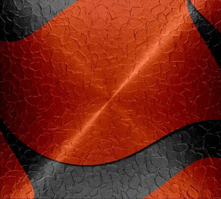 anodized: Black and red shiny metal texture background Stock Photo